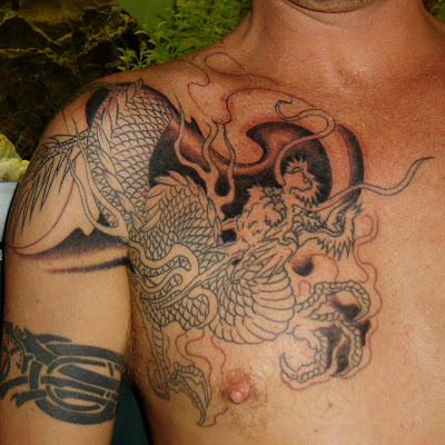 The choice for a Japanese dragon tattoo makes a particularly powerful