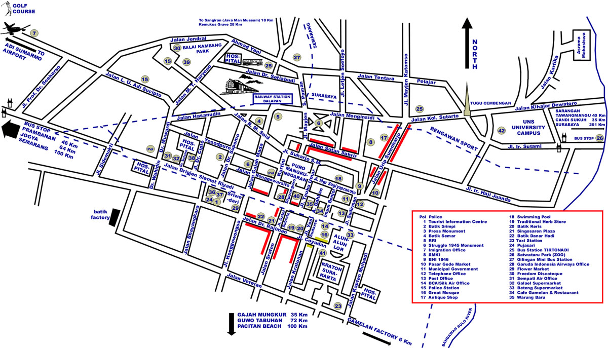 Map Of Surakarta Indonesia