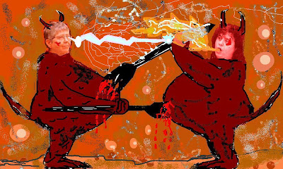 Mary Daly and Andrea Dworkin together in Hell