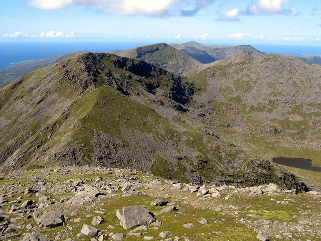 View west from summit of Clisham
