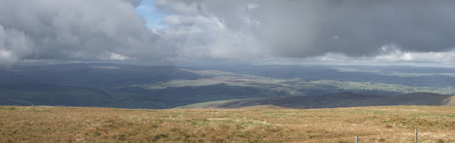 Looking west from Cadair Berwyn