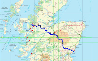 Route map Torridon to Arbroath