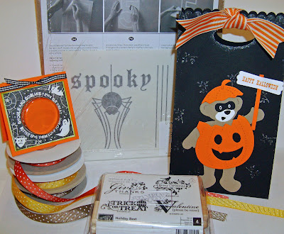 rubber stamping Halloween blog candy giveaway