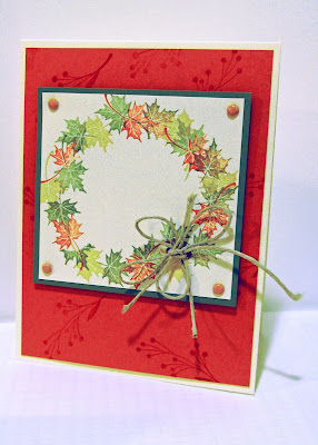 fall card using Autumn Days stamp set