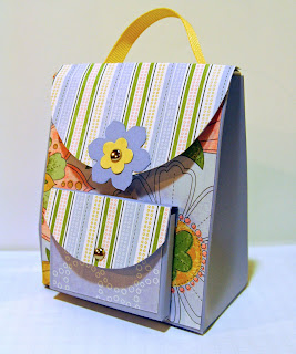 3-d mini-backpack with Tea Party designer series paper
