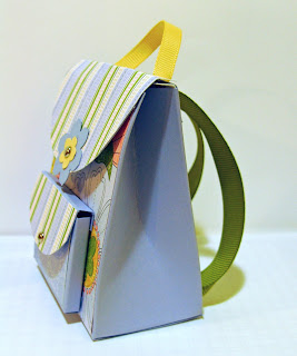 side view of 3-d mini-backpack