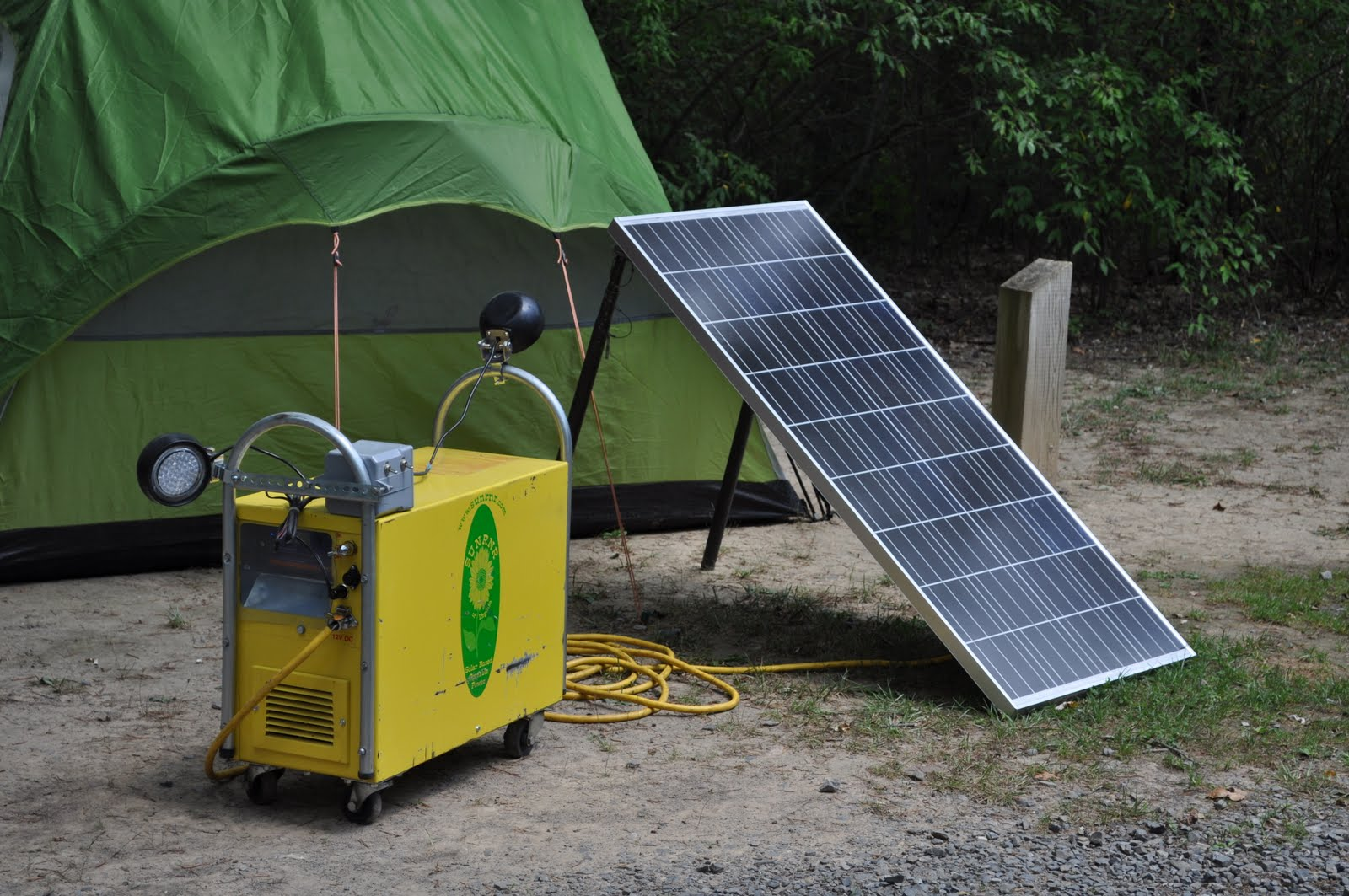 ... generator to field test the sun runner portable backup solar generator
