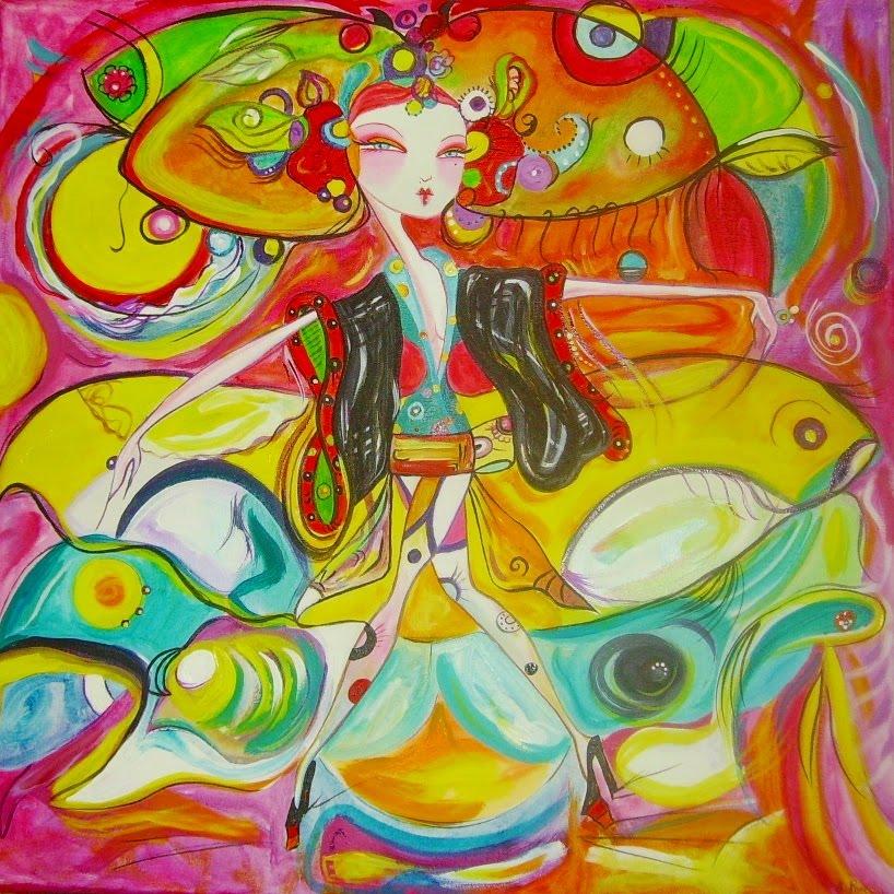 ... nueva exposicion mi forma de pintar se basa en la mezcla y composicion