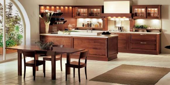 Dise o de cocinas de color marr n decorando mejor for Chocolate brown kitchen designs