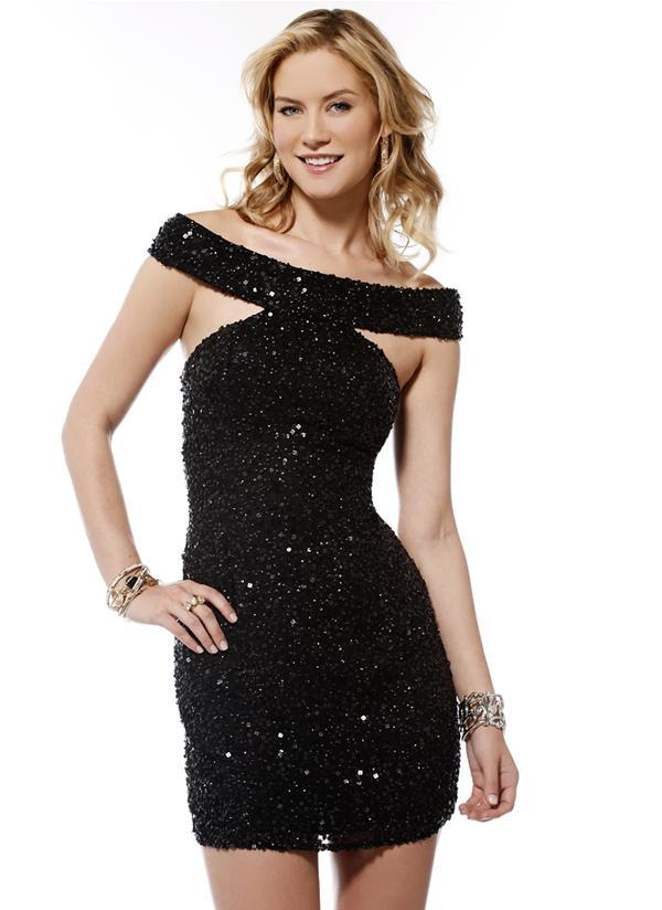 Vestido de fiesta negro sexy