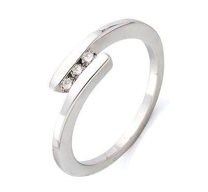 Vestido de novia anillos de boda con diamantes for Precio rodiar anillo oro blanco