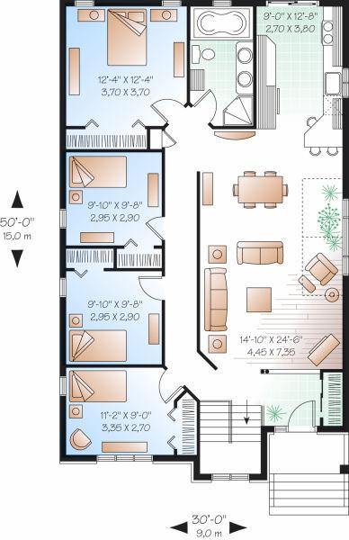 Interior design plano de casa de un pisos cuatro - Planos d casas d un piso ...