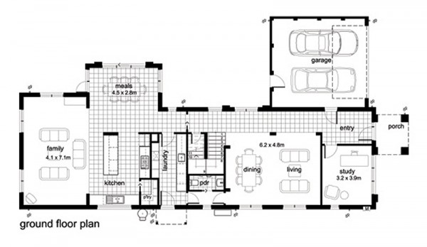Decorations millenium interior design plano de casa for Plano casa moderna 4 habitaciones