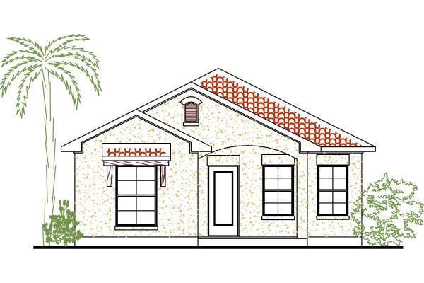 Plano de casa de 3 habitaciones y 111 metros cuadrados for Planos de casas de tres recamaras