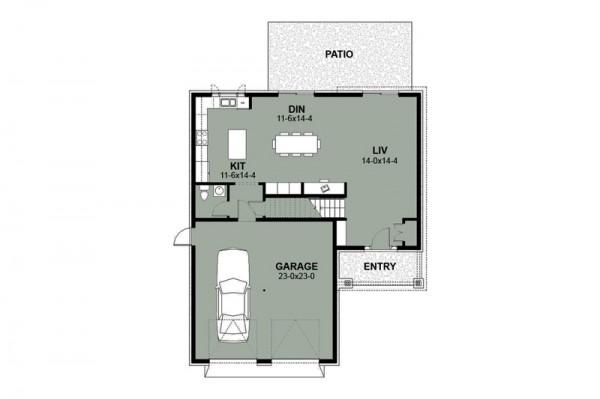 Medidas Baño En Suite:En la planta baja tenemos garage para 2 autos, living, cocina con isla