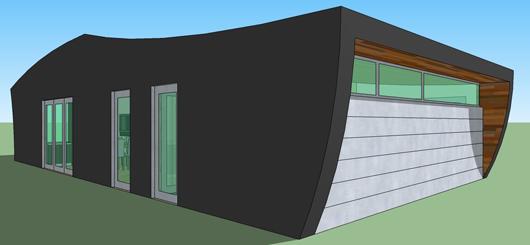 casas modernas planos. Plano de Casa moderna de un