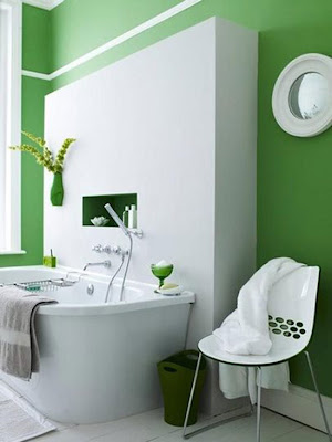 BAÑO DE COLOR VERDE