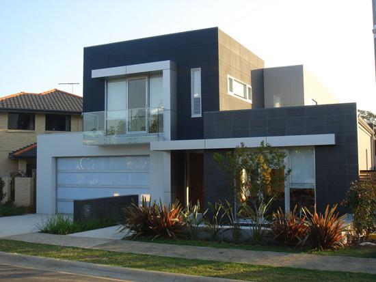 Fachada moderna de casas sostenibles fachadas de casas y for Casa y jardin tienda