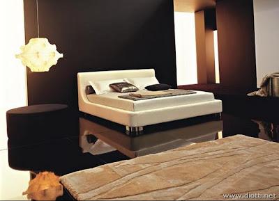 Cama tapizada piel