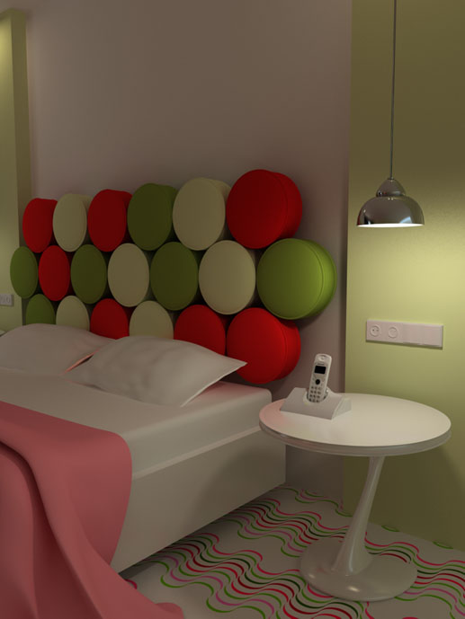Modern home designs dormitorio rojo y verde - Dormitorio verde ...