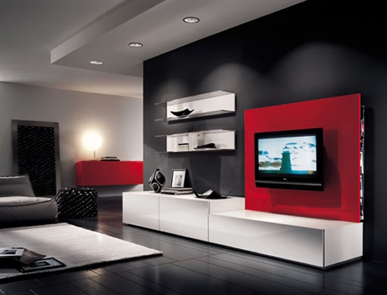 Moderna Sala De Estar Con Tv Lcd Luxury Interior Design