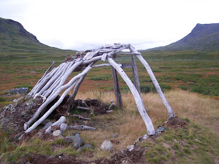 Sami Hut Skeleton on Tjaktjavagge