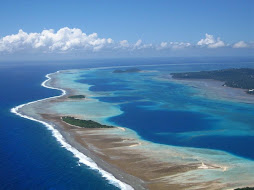 Vue aérienne de la barrière de corail