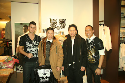 Dom Rebel ~ Justin Svatina (head designer Dom Rebel), Jing Liu (Co-designer JUZD) - Terence Chung (Co-designer JUZD), Don Nguyen (Sales Marketing Dom Rebel)