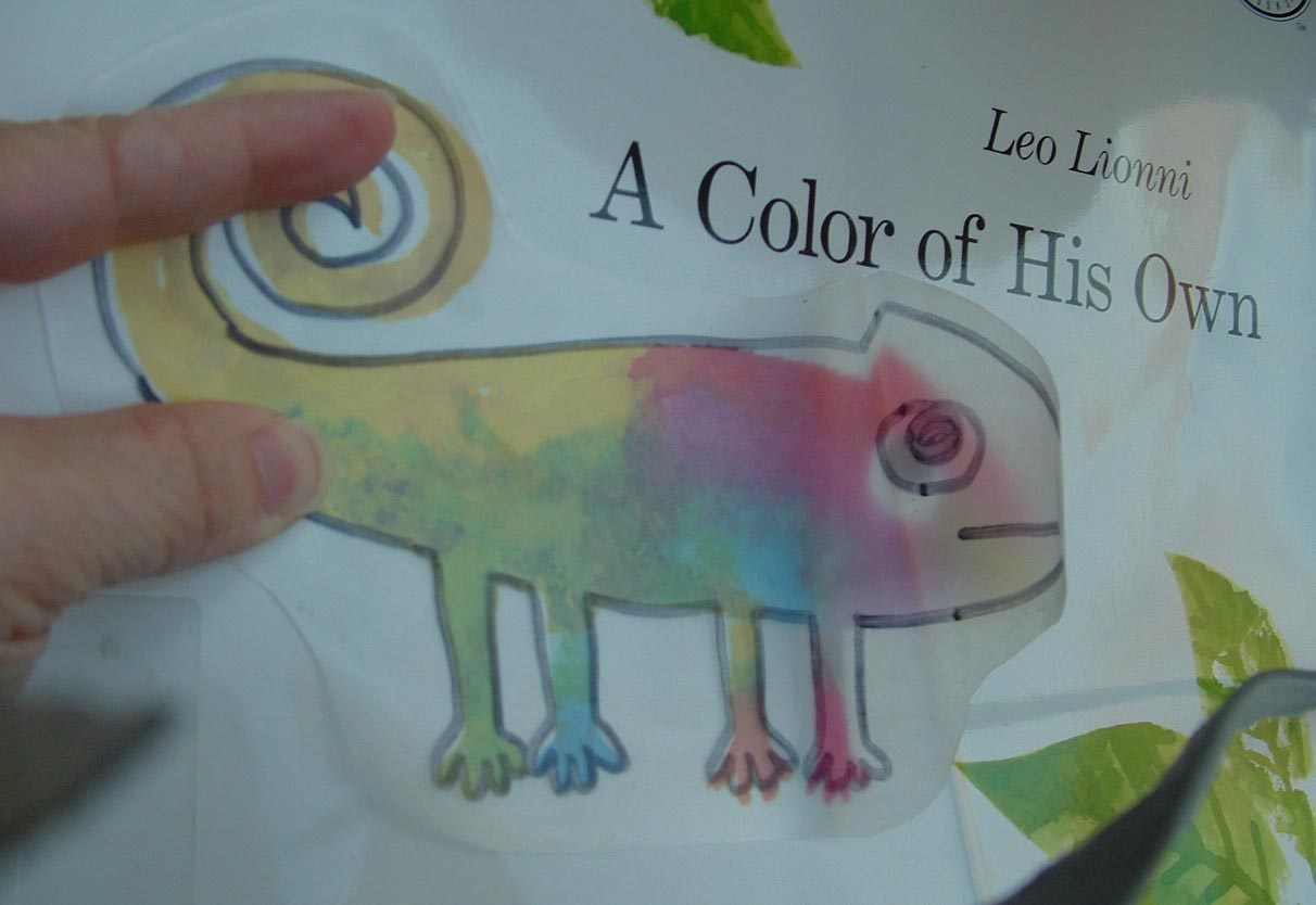 Pieces by Polly: Colorful Chameleons - Book & Activity