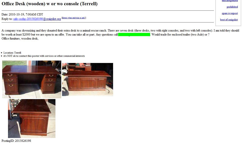 Chicago Furniture By Owner Craigslist