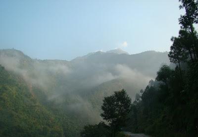 Morning view of Chamoli valley