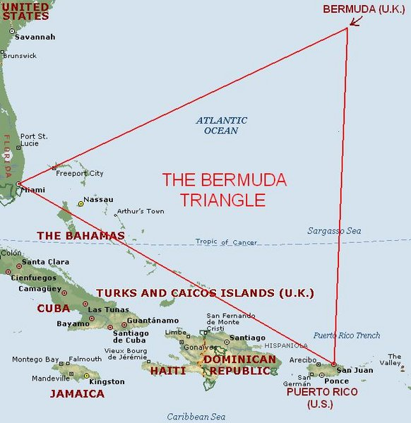 a study of bermuda triangle The bermuda triangle traditionally extends from bermuda to miami and  in a  2003 study published in the american journal of physics, which.