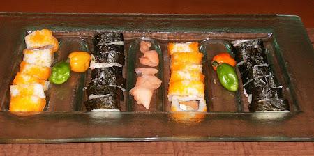 Charola rectangular para sushi