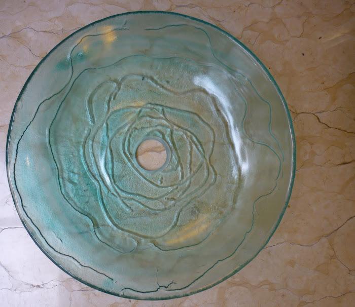 Ovalín para lavabo con efecto de agua en remolino
