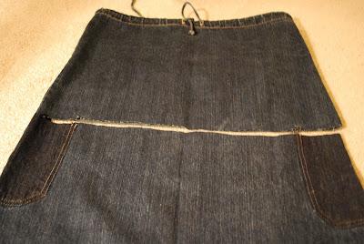 Новая модная джинсовая юбка из старой