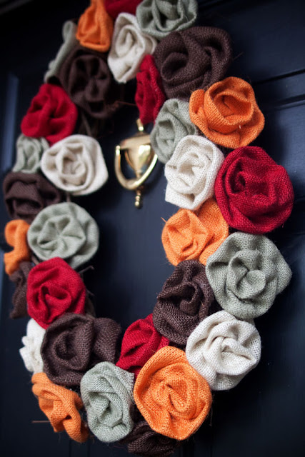 fall burlap wreath craft