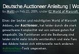 deutsche Auctioneer Anleitung