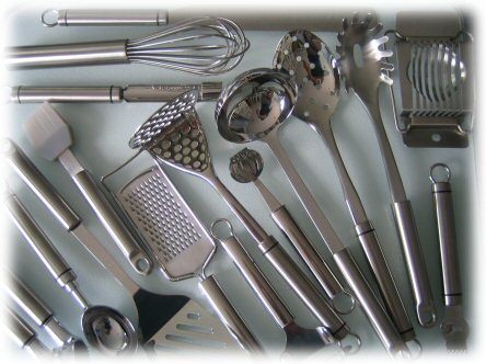 suede qualifier: classification of kitchen tools and equipment