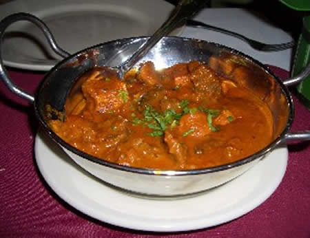 vindaloo from india is made of super spicy seasoning of