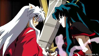 Inuyasha and Princess Kaguya from Inuyasha The Castle Beyond the Looking Glass