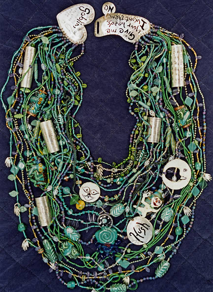 Overheard on a Saltmarsh, necklace by Carol Berry and Brian Kerkvliet