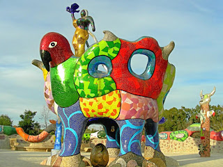 mosaic sculpture, Queen Califia's Magical Circle by Niki De Saint Phalle, photograph by Robin Atkins
