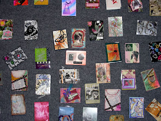 ATC wall at the Chicago Quilt Festival, 2007