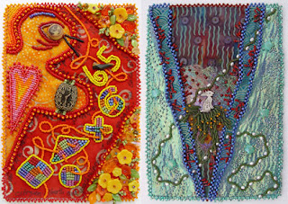 bead embroidery by Robin Atkins, June & July bead journal projects