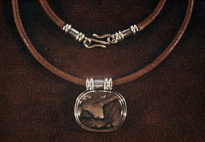 metalsmith, picture jasper necklace by Robin Aktins