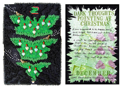 bead embroidery by Robin Atkins, Bead Journal Project