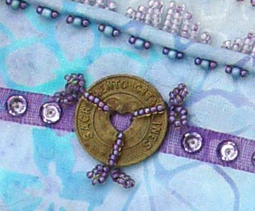 Bead Journal Project, September, Robin Atkins, bus token