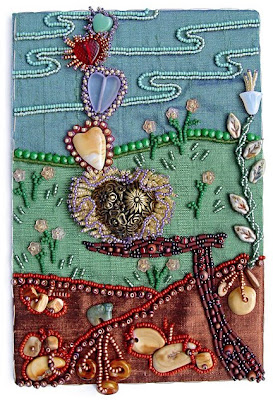 Bead Journal Project, September, Robin Atkins, Love in Delicate Balance