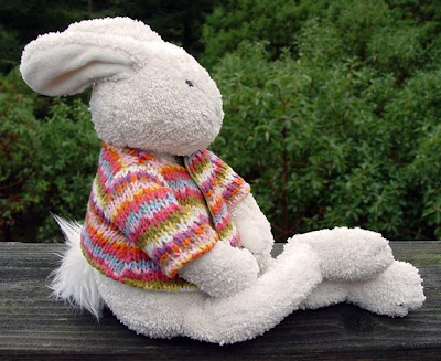 bunny with sweater