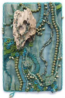 Bead Journal Project, Christi Carter, driftwood, water